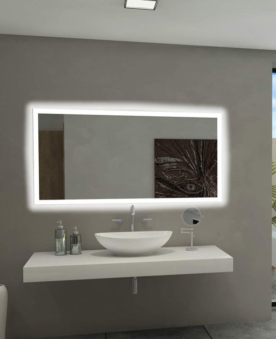 Buy online latest and high quality Backlit Bathroom Mirror Rectangle 55 X 28 In from Paris Mirror | Modern Lighting + Decor