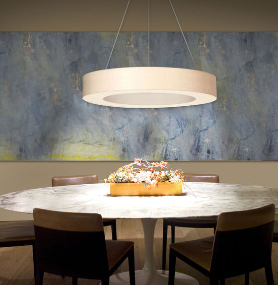 Ring Shade 32 Inch LED Pendant Light from Sonneman | Modern Lighting + Decor