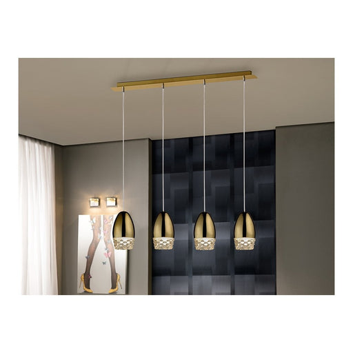 Alessa 4 Light Suspension  | Modern Lighting + Decor