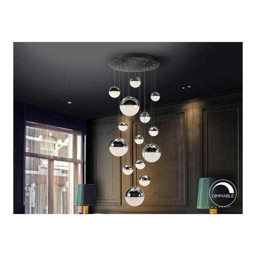 Sphere 14 Light LED Suspension  | Modern Lighting + Decor