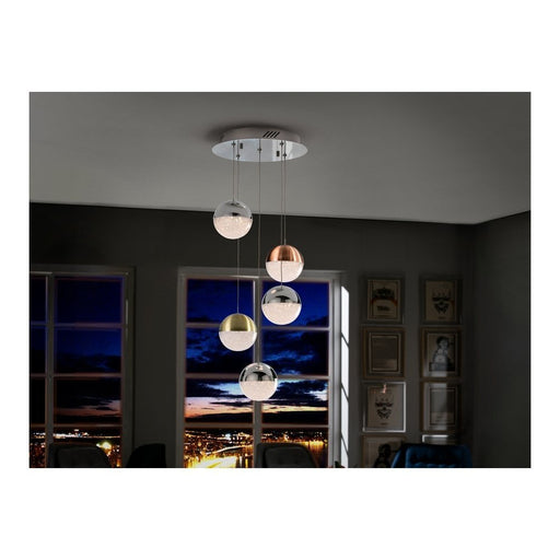 Sphere 5 Light LED Suspension  | Modern Lighting + Decor
