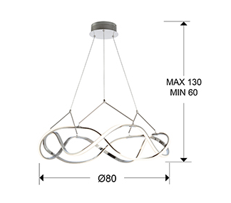Molly LED Suspension - Medium Chrome