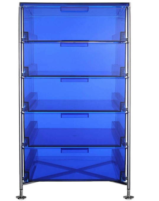 Mobil 2034 Roller Container w/ Five Drawers from Kartell | Modern Lighting + Decor