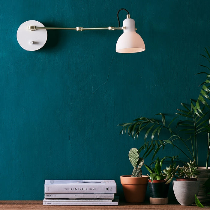 Laito Opal Swing Arm Wall Sconce | Modern Lighting + Decor
