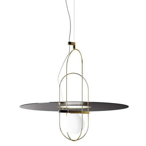 Setareh 65 Pendant Lamp with Metal Disk from Fontana Arte | Modern Lighting + Decor