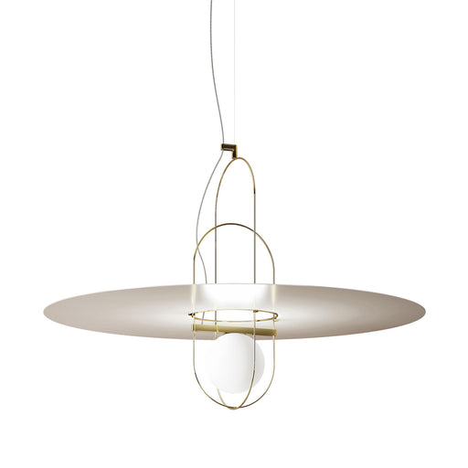 Setareh 85 Pendant Lamp with Metal Disk from Fontana Arte | Modern Lighting + Decor