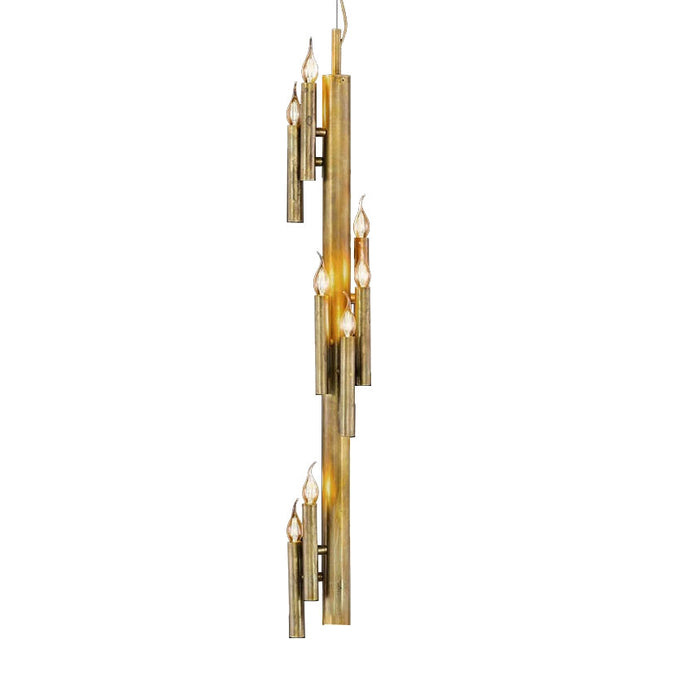 Buy online latest and high quality Shiro Vertical 9 Lights Pendant Light from Brand Van Egmond | Modern Lighting + Decor