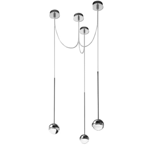 Convivio 3 Cable Pendant Light with Swag from Cini & Nils | Modern Lighting + Decor