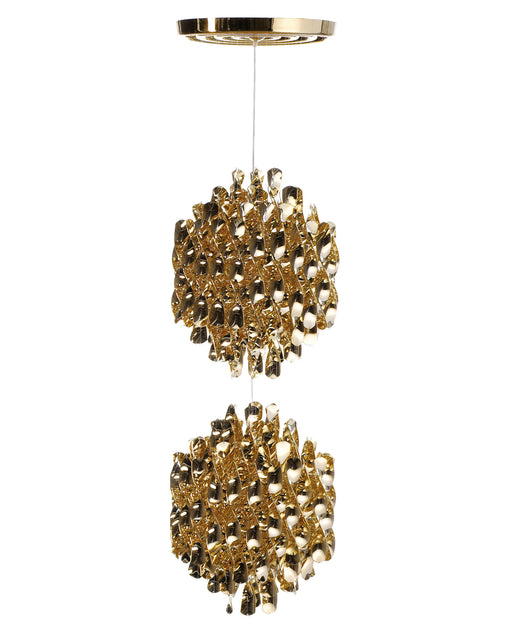Spiral SP2 Gold Chandelier from Verpan | Modern Lighting + Decor