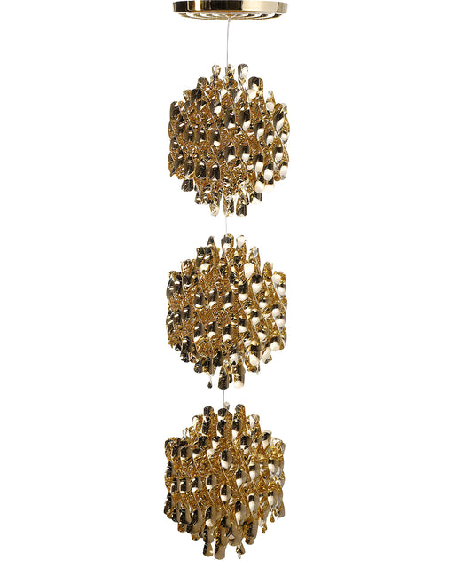 Spiral SP3 Gold Chandelier from Verpan | Modern Lighting + Decor