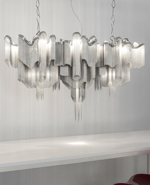 Buy online latest and high quality Stream J52S chandelier from Terzani | Modern Lighting + Decor