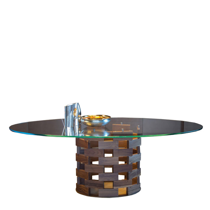 Colosseo Table, 87-in Oval from Tonin Casa | Modern Lighting + Decor