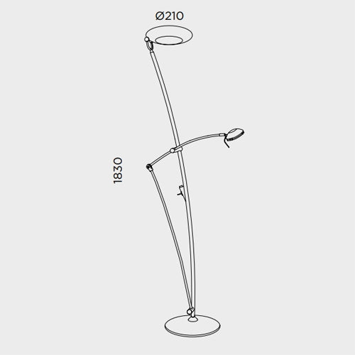 Buy online latest and high quality Pies P-740 Floor Lamp from Pujol Iluminacion | Modern Lighting + Decor