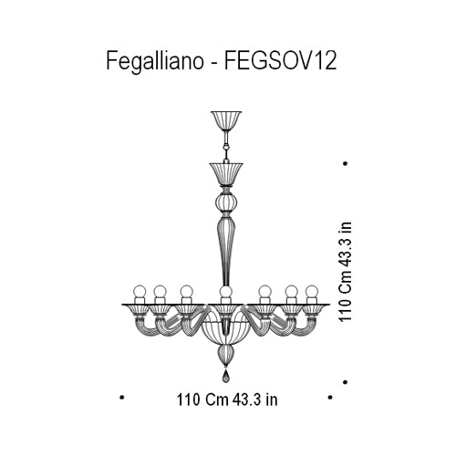 Buy online latest and high quality Fegalliano - FEGSOV12 Chandelier from Mazzega 1946 | Modern Lighting + Decor
