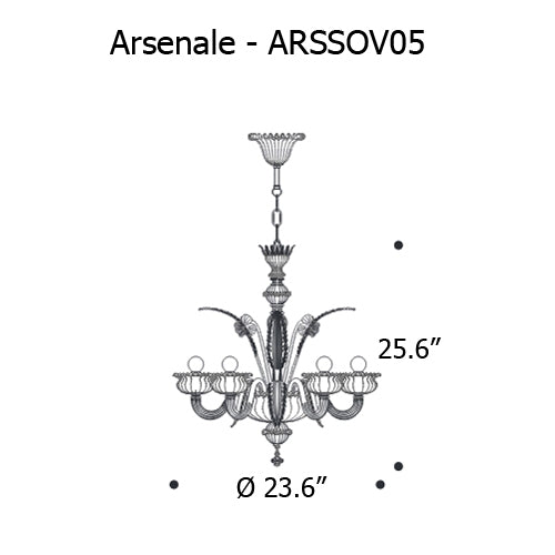 Arsenale Chandelier from Mazzega 1946 | Modern Lighting + Decor