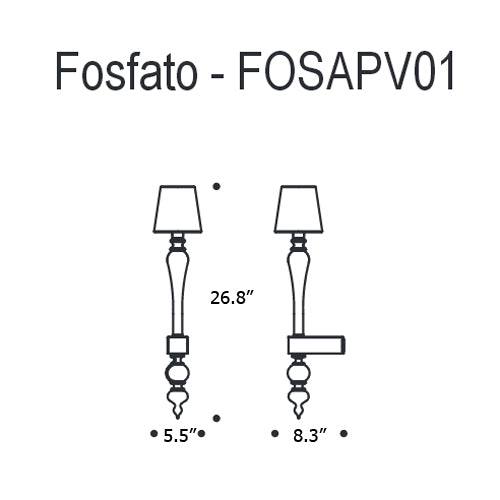 Buy online latest and high quality Fosfato FOSAPV01 Wall Light from Mazzega 1946 | Modern Lighting + Decor