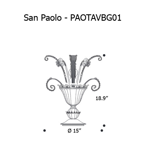 San Paolo - PAOTAVBG01 Table Lamp from Mazzega 1946 | Modern Lighting + Decor