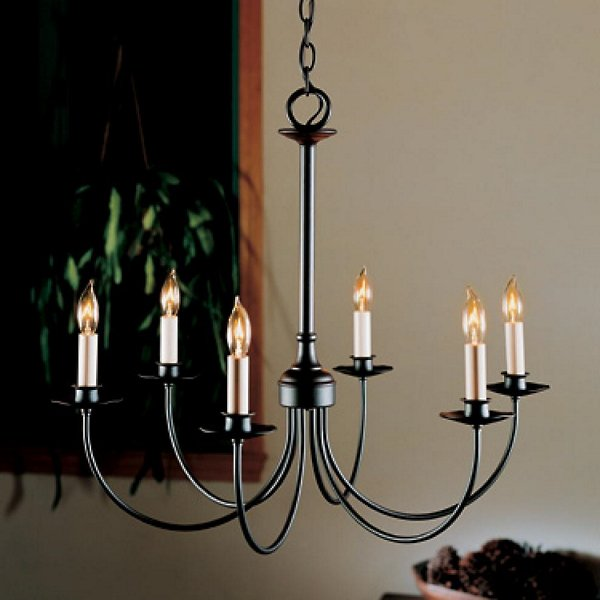 Buy online latest and high quality Simple Lines Six Arms Chandelier from Hubbardton Forge | Modern Lighting + Decor