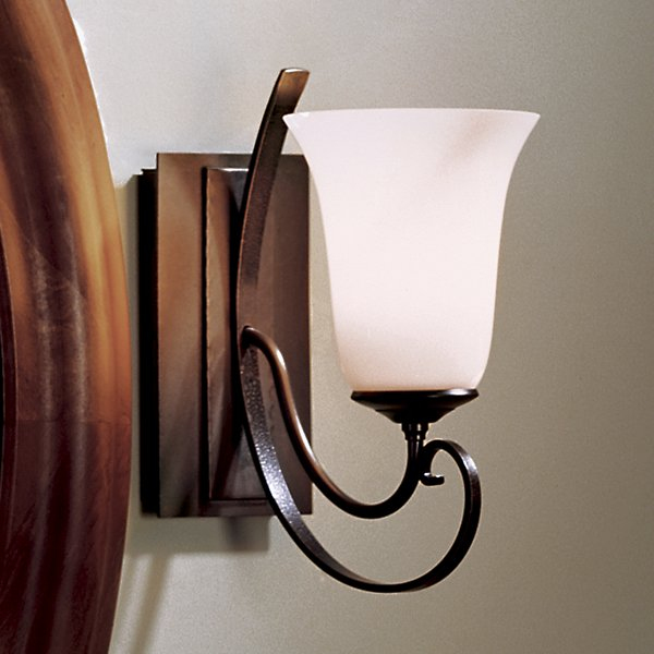 Buy online latest and high quality Scroll Single Line Wall Sconce with Glass from Hubbardton Forge | Modern Lighting + Decor