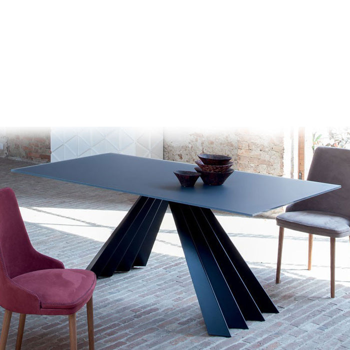 Ventaglio Glass Table, 79-inch from Tonin Casa | Modern Lighting + Decor