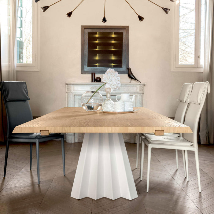 Ventaglio Wood Extension Table from Tonin Casa | Modern Lighting + Decor