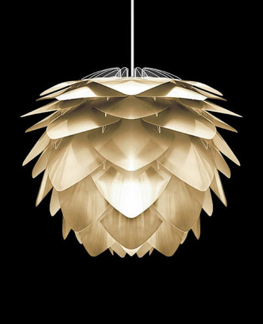 Silvia Brushed Brass Pendant Light from Vita Copenhagen | Modern Lighting + Decor