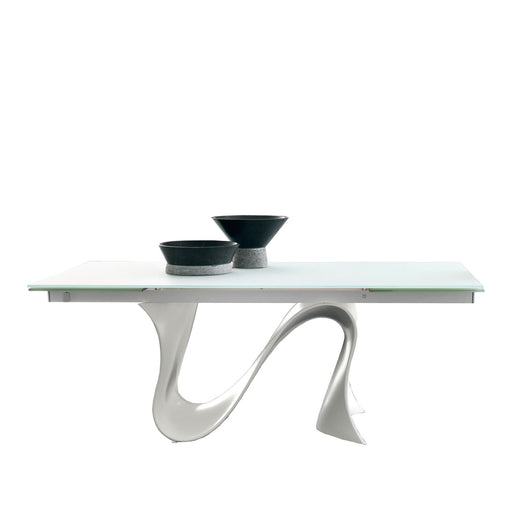 Buy online latest and high quality Wave 63-94 inch Extension Glass Table from Tonin Casa | Modern Lighting + Decor