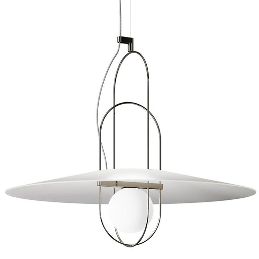 Setareh 85 Pendant Lamp with Glass Diffuser from Fontana Arte | Modern Lighting + Decor