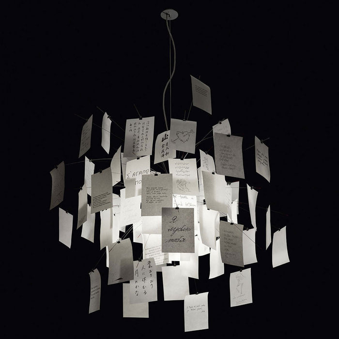 Zettel'z 5 Chandelier from Ingo Maurer | Modern Lighting + Decor