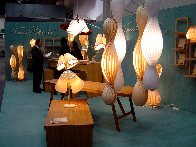 Wood lamps by Tom Rossau