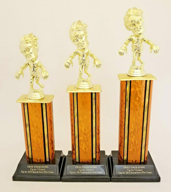 """5 7//8/"""" metallic resin Football Trophy RRP £9.99 engraved and postage free"""