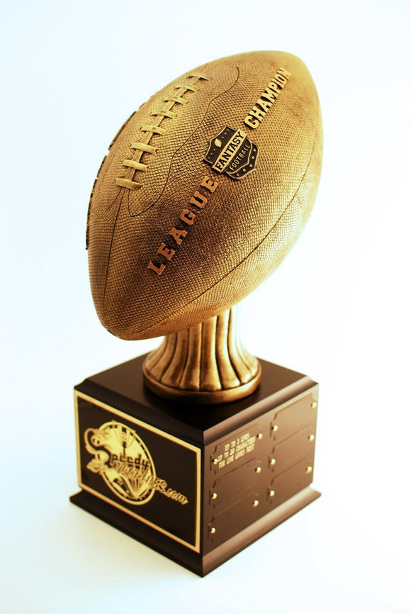LEAGUE CHAMPION FANTASY FOOTBALL TROPHY  12 YEAR PERPETUAL- FREE ENGRAVING!!!