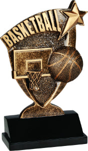 "6"" Basketball Broadcast Resin"