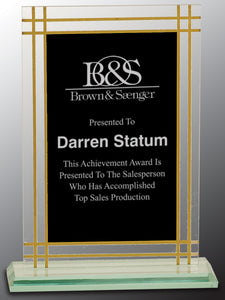 "7 1/2"" Contemporary Glass Full Border Award"