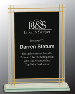 "8 1/2"" Contemporary Glass Full Border Award"