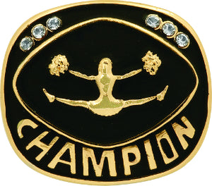 Gold Cheer Champion Ring Insert