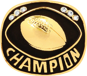 Gold Football Champion Ring Insert