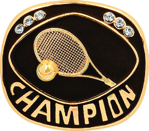 Gold Tennis Champion Ring Insert