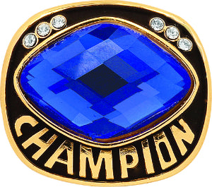 Blue Cut Glass Champion Ring Insert