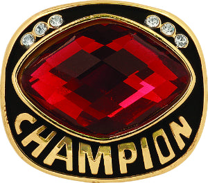 Red Cut Glass Champion Ring Insert