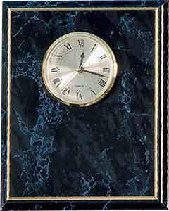 "8"" x 10"" Black Marble Finish Clock Plaque"