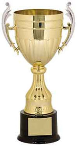 "13"" Gold/Silver Plastic Completed Cup Trophy"