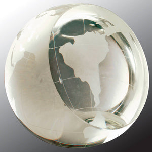 "4"" Crystal Globe Paperweight"