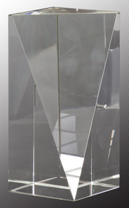 "6"" Crystal Triangle Front Pillar"