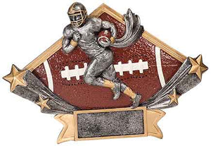 "8 1/2"" x 5 3/4"" Male Football Diamond Star Resin"