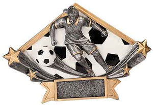 "8 1/2"" x 5 3/4"" Female Soccer Diamond Star Resin"