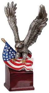 "10"" Eagle and Flag on Resin Base"