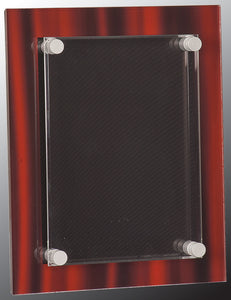 "8"" x 10"" Red Velvet Stand-Off Acrylic Plaque"