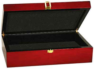 "12 1/4"" x 8 1/4"" x 3 1/2"" Rosewood Piano Finish Gift Box"