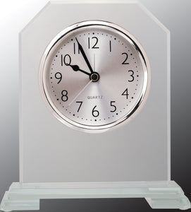 "6 1/2"" Clipped Corner Glass Clock"